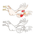 cute cockerel coloring book vector image
