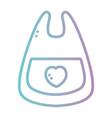 line bib baby accessories icon vector image