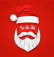 realistic santa claus christmas mask vector image