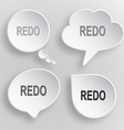 Redo White flat buttons on gray background vector image