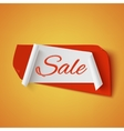 Sale red and white abstract banner vector image