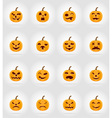 pumpkins for halloween flat icons 17 vector image