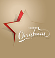 Light brown background with Christmas star and vector image vector image