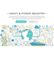 modern line flat design Heavy and power vector image