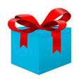 blue box with red ribbon vector image