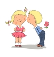 kissing boy and girl vector image