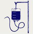 Blood bag vector image