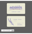 Lavender business cards vector