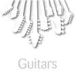 Background with Guitar headstocks vector image