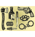 Crime elements vector image