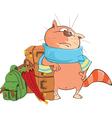 Cute Cat Traveler Cartoon vector image