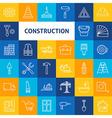 Line Art Construction Icons Set vector image