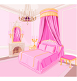 Princess bedroom vector image