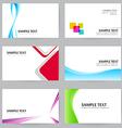 Set of 20 NameCard Template Set 01 vector image