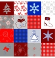 Set of seamless christmas patterns vector image