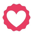 heart pink isolated icon design vector image
