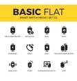 Basic set of Smart watch media icons vector image