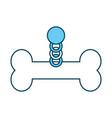 pet collar with bone icon vector image vector image