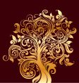 gold tree vector image vector image