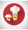 Vintage Chief Cook Serving Dish Symbol tongue vector image