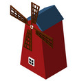 3d design for red windmill vector image