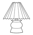 decorative lamp vector image vector image
