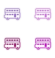 Set of stickers British double-decker bus on white vector image