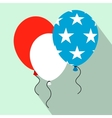 Balloons in the USA flag colors flat icon vector image vector image