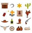Vintage American old western designs sign and vector image