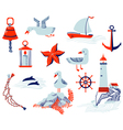 nautical objects vector image