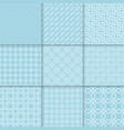 collection of blue seamless patterns vector image