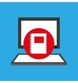 Computer desktop notebook communication social vector image