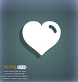 Heart Love icon symbol on the blue-green abstract vector image