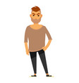 modern man in stylish casual clothes isolated vector image