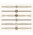 Nautical vintage rope dividers vector image