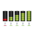 process of recharging battery minimum and full vector image