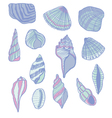 Seashells seamless pattern vector image