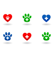set of veterinary icons vector image