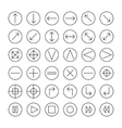 thin icons set for web and mobile Line simple vector image