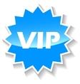 Vip blue icon vector image