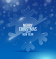 Christmas design with glass snowflake vector image vector image