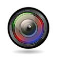 Camera photo lens vector image