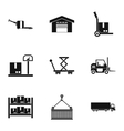 Cargo icons set simple style vector image