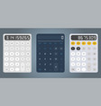 calculator design template vector image