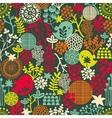 Seamless texture with birds and flowers vector image