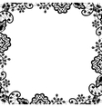 black lace on white background vector image vector image