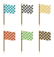 chequered flags vector image vector image