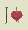 I love beets Heart of the Burgundy red beets vector image