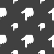pointing hand icon sign Seamless pattern on a gray vector image