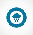 cloud rain bold blue border circle icon vector image